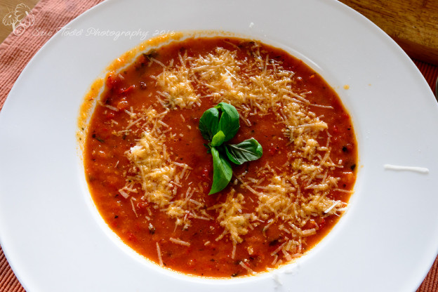 Roasted Red Pepper and Tomato Soup. © Sue Todd Photography 2016