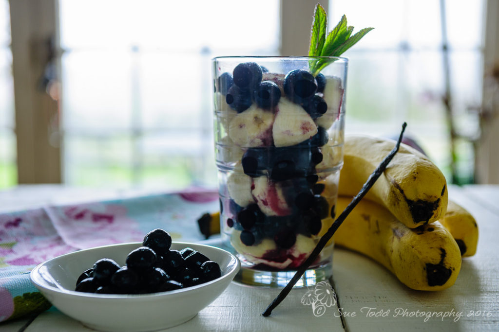 Blueberry and Banana Smoothie ingredients. © Sue Todd Photography 2016