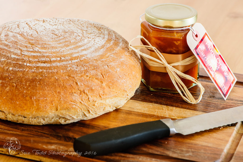 Plum orange and cardamom jam with home made bread © Sue Todd Photography 2015