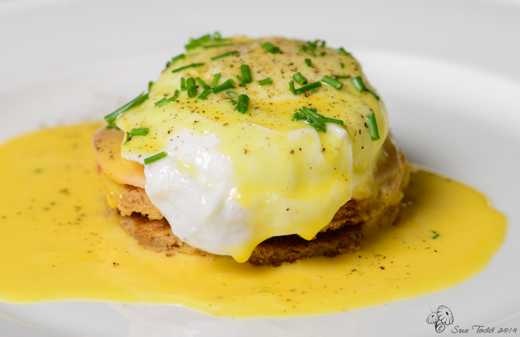 Eggs Benedict - the best breakfast ever? © Sue Todd 2014