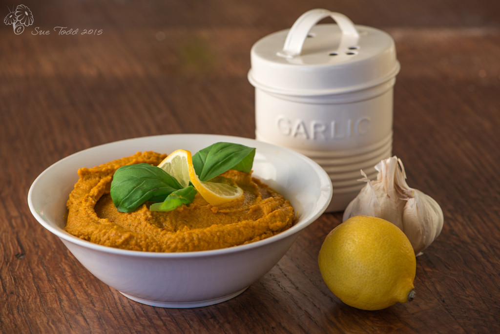 Carrot Hummus © Sue Todd 2015